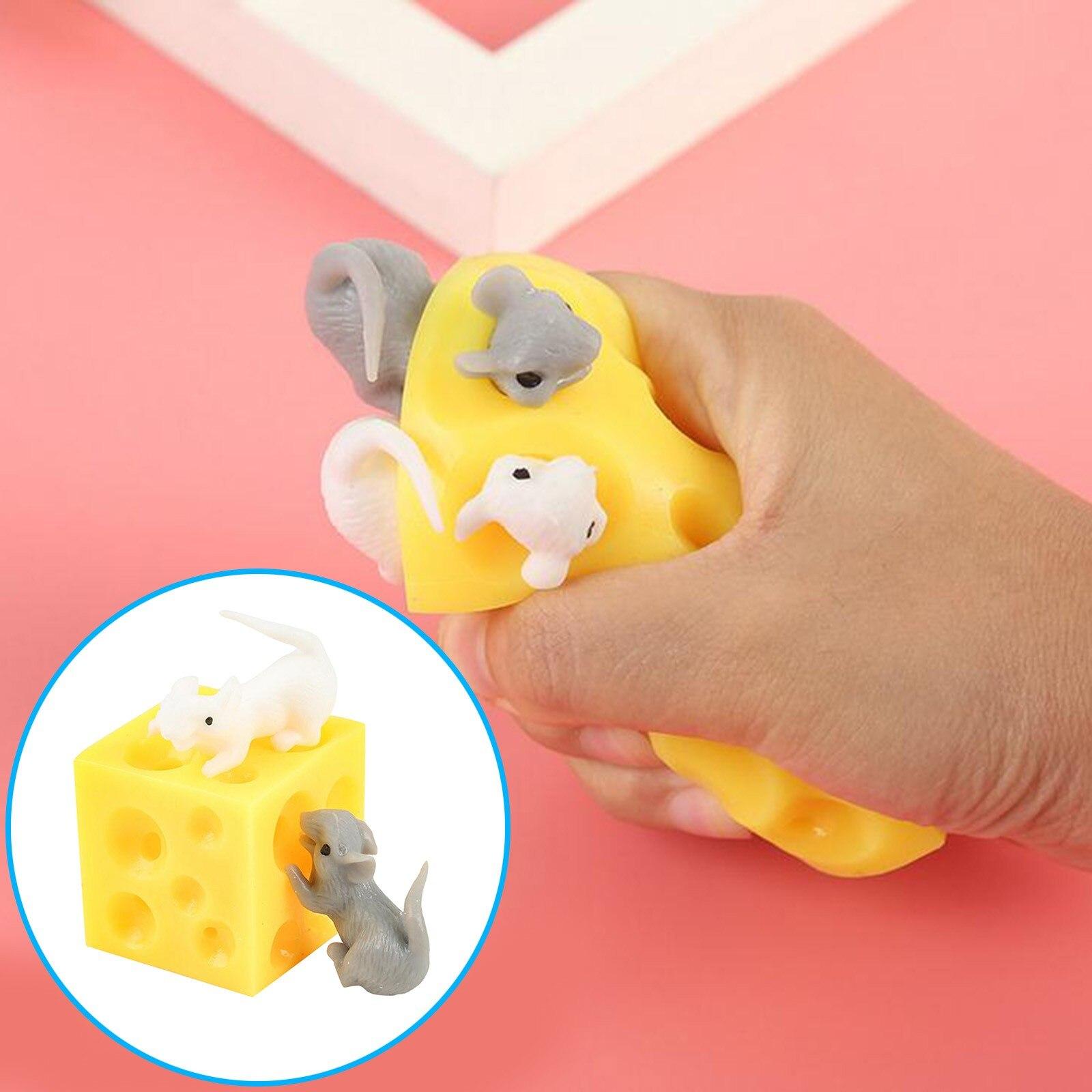 Sevimli peynir fare yaratıcı zor korkunç tutam müzik dekompresyon oyuncak çocuk oyuncak bebekler çocuklar için kız erkek noel hediyesi