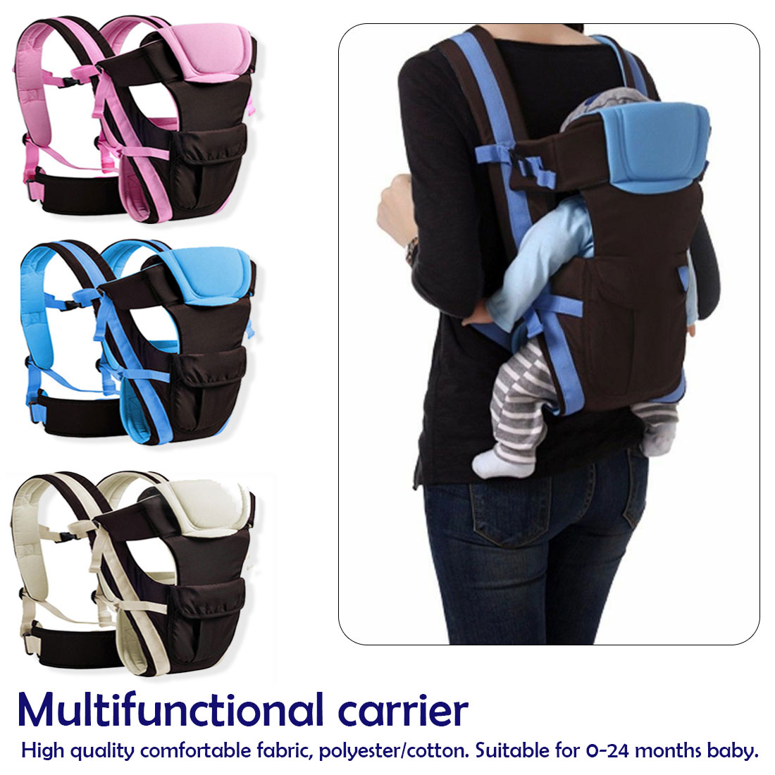 Breathable Ergonomic Baby Carrier Backpack Portable Infant Baby Carrier Kangaroo Hip Seat Heaps Baby Sling Carrier Wrap