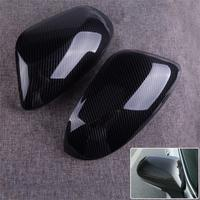 CITALL 2pcs Carbon Fiber Texture Car Side Wing Door Rear View Mirror Back Trim Cover fit for Toyota Corolla Hatchback 2019 2020