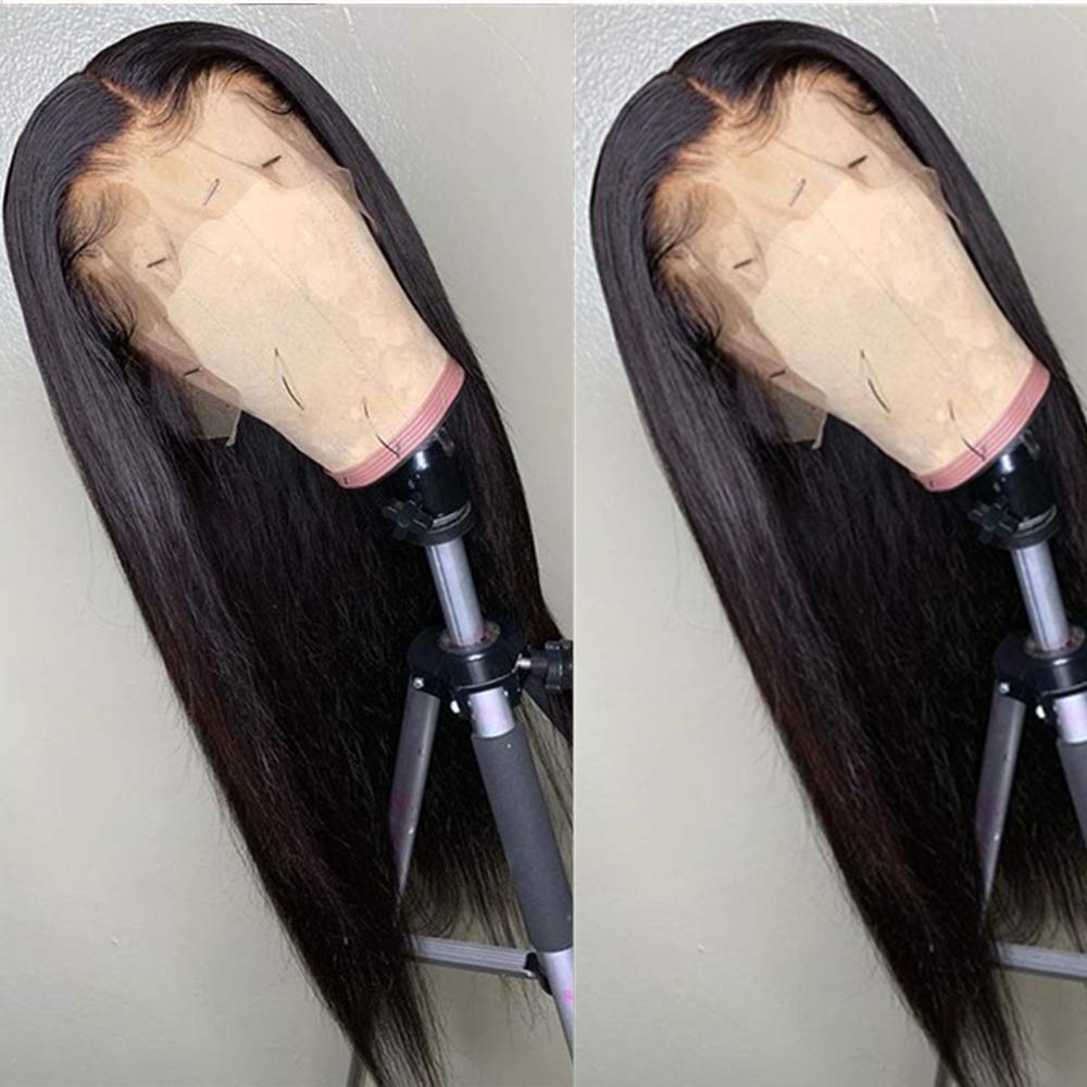 Silk Base Wigs Pre Plucked Hairline With Baby Hair Brazilian Virgin Hair Silk Top Silky Straight Lace Front Wigs For Women