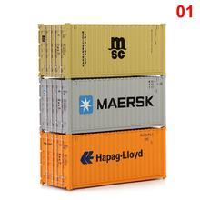 3pcs Misto Diversi HO Bilancia 20 Piede Contenitore di 20ft Container di Trasporto Merci Auto Carro 1: 87 C8726 Modello di Accessorio