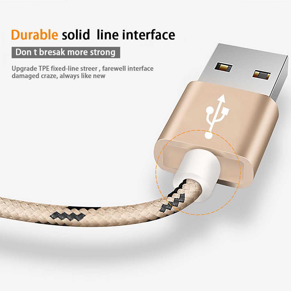 USB Type CสายสำหรับXiaomi Redmiหมายเหตุ7 Mi 9 Fastชาร์จข้อมูลSync USB C CableสำหรับSamsung galaxy S9 Oneplus 6T Type-C