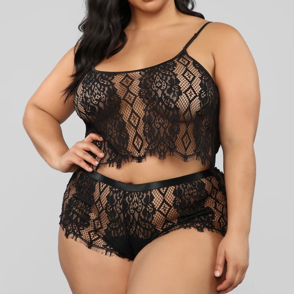 Sexy Lingerie For Women Plus Size Lace Erotic Underwear Set Porno Baby Doll Lenceria Sexi Para Mujer Black Lingerie Femme Sexy