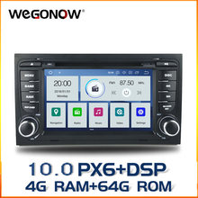 DSP PX6 IPS Android 10 4G RAM + 64G Car DVD Player GPS Map RDS Radio Bluetooth Wifi per AUDI A4 SEAT EXEO (2009-2012) s4 RS4 8E(China)