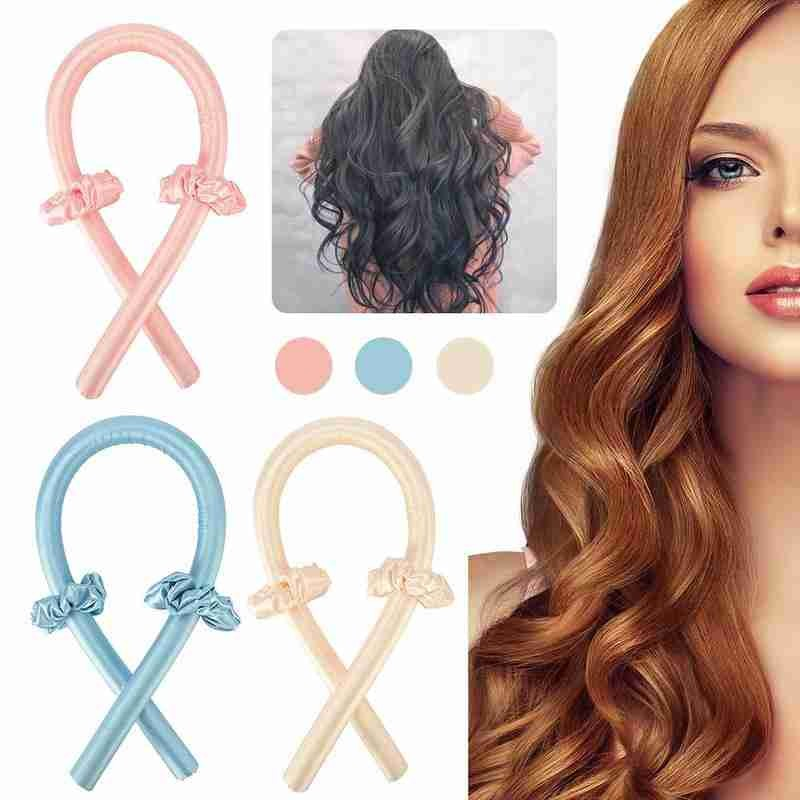 Heatless Curling Headband Ribbon-Make Lazy-Curler Silk Rod