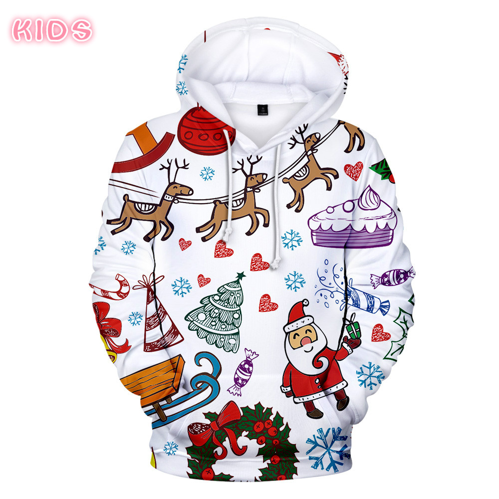 Best Selling Christmas Hoodies Men/Women Sweatshirts 3D Casual Funny Santa Claus lovely pattern Children's Harajuku Hoodie 4XL