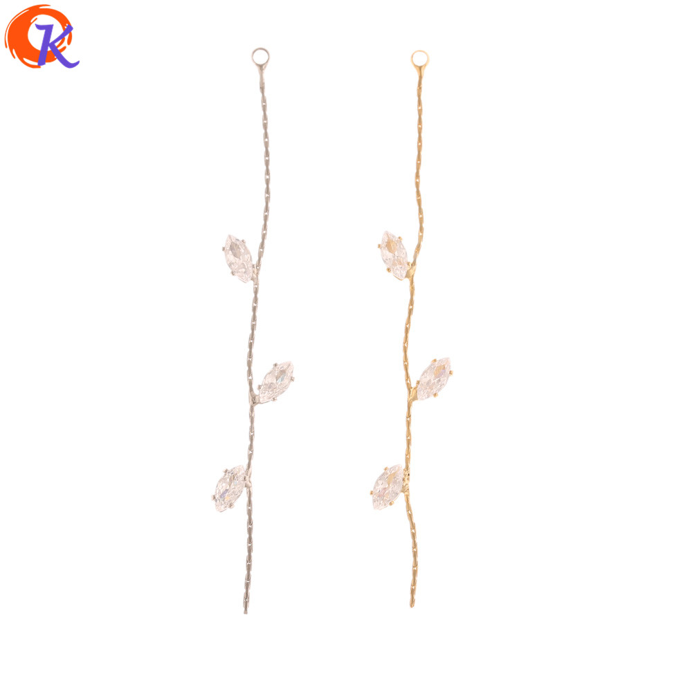 Cordial Design 20Pcs 8*66MM Jewelry Making/DIY CZ Chain/Genuine Gold Plating/Earrings Connectors/Hand Made/Earring Findings