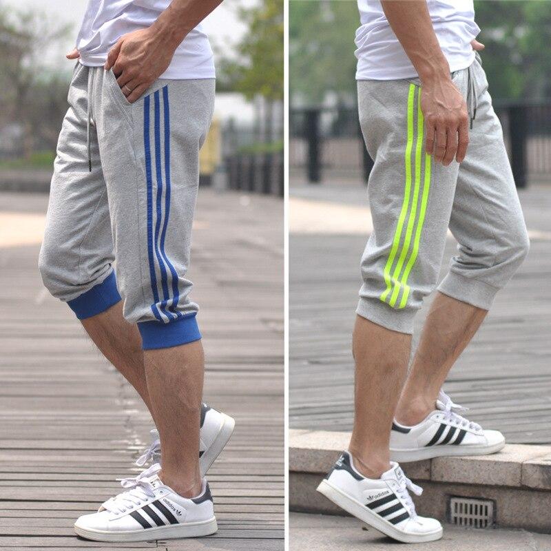 [Cross Border] AliExpress 2019 New Style Fashion Closing Capri Pants Sports Trend Men's Trousers