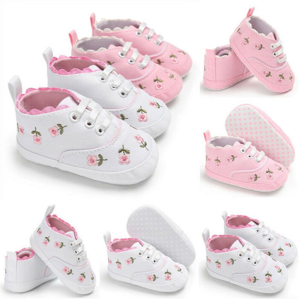 Flower Baby Infant Kid Girl Soft Sole Crib Toddler Summer Princess Sneaker Shoes Cute Newborn Girl Boy Soft Sole Crib
