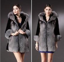 S-3XL Mink Coats Women 2021 Winter Top Fashion Pink FAUX Fur Coat Elegant Thick Warm Outerwear Fake Fur Woman Jacket