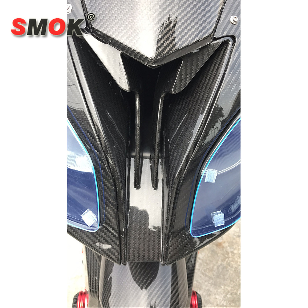 SMOK <font><b>Carbon</b></font> <font><b>Fiber</b></font> Front Head Nose Cowl Air Intake Full Fairing Kits Covers For <font><b>BMW</b></font> <font><b>S1000RR</b></font> S 1000 RR 2015-2018 image