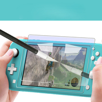 crystal screen Crystal Transparent Case for Nintend Switch Lite Hard PC Protection Cover For Nintendo switch Lite Screen Tempered Glass Film (5)