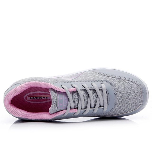 Wedges shoes women platform sneakers 2019 breathable mesh lace-up vulcanize shoes woman casual sneakers female tenis feminino