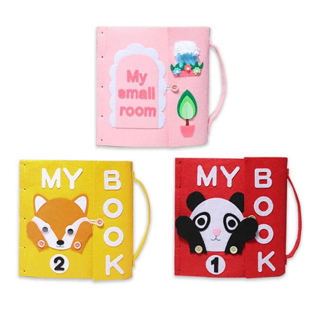 Children's Early Education Cloth Book Non-woven Hand-made Cloth Diy Material Package To Development Children's Intellectual Toys