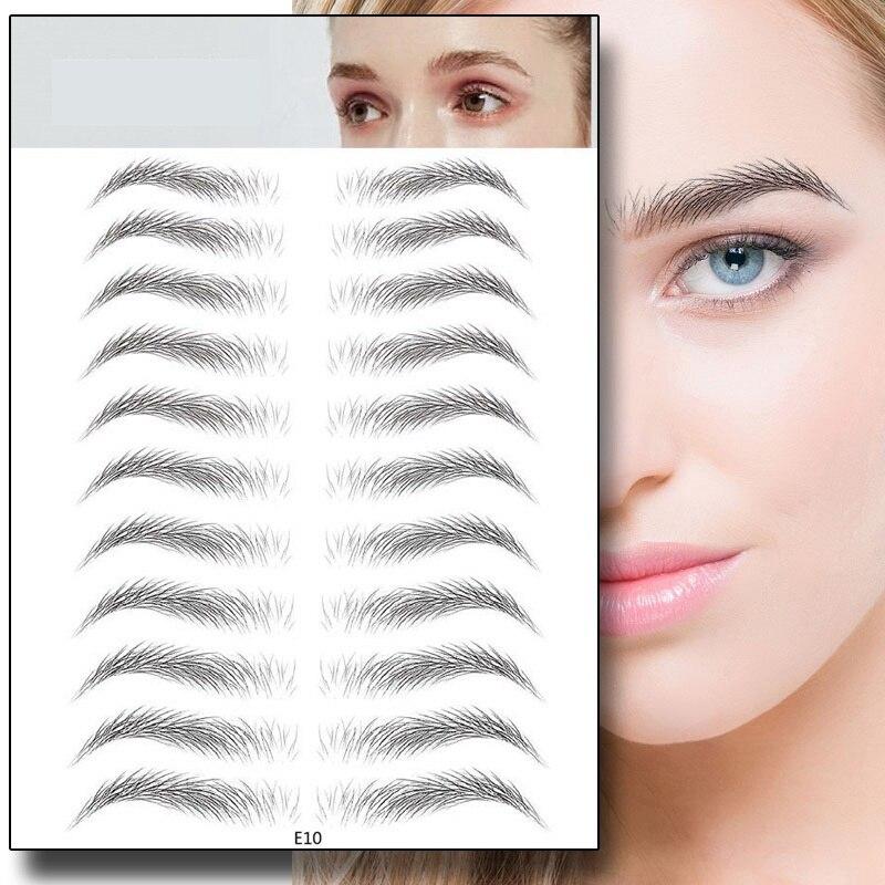 4D Hair-like Eyebrow Tattoo Sticker Eyebrows Makeup Waterproof Lasting Water-based Brow Stickers False Eyebrows Cosmetics