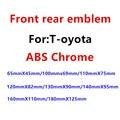 1 шт. ABS Хромовая Автомобильная передняя фара капот эмблема автомобиля задний бампер багажник Стикеры для машины, украшеющие
