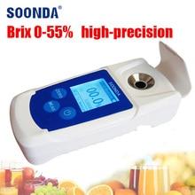 0-55% Digital Handheld Brix MeteRefractometer Juice beer drinks suger tester meter Wine Sugar Content Measuring Instrument