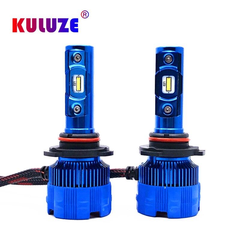Kuluze HB3 9005 hb4 9006 automobile LED headlamp H4 H7 H8 H9 H11 HB1 HB5 5202 PSX24W automobile LED headlamp fog lamp 12V 6000K