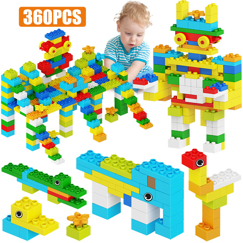City Animals Park DIY Building Big Blocks For Legoingly Duploed Creative Robot Large Particles Bricks Education Toy For Children