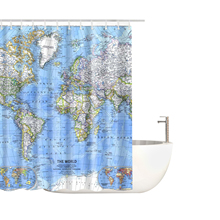 цена на Eco-Friendly Waterproof Shower Curtains Home Bathroom Shower Curtain Printed Polyester Waterproof Shower Curtain Various Styles