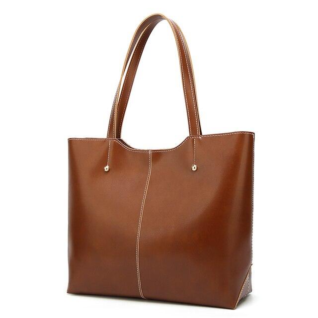 100% Genuine leather Women handbags  New Women's Korean version of big sweet fashion soft bag slung one shoulder 3