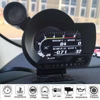 ALUFI XF OBD2 digital turbo boost oil pressure water temperature gauge for car RPM Air fuel ratio Fuel level Speed EXT Oil Meter