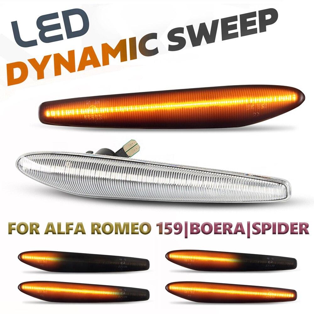 Светодиодсветодиодный динамические боковые габаритные огни, 2 шт., указатели поворота со стрелками, лампы для Alfa Romeo 159 / 159 Sportwagon / Boera / Spider typ ...
