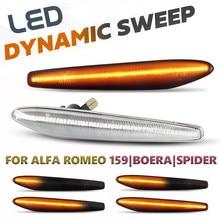 2 pçs led luzes de marcador lado dinâmico seta pisca o sinal lâmpadas para alfa romeo 159 / 159 sportwagon/boera/aranha typ 939
