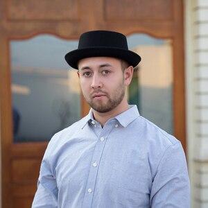 Image 4 - GEMVIE klasyczne 100% wełna miękki Pork Pie kapelusz Fedora dla mężczyzn kobiety jesień zimowa wełniana czapka zakrzywione rondo