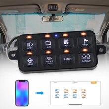 8 кнопочный светодиодный переключатель панель для автомобиля
