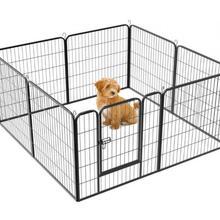8pcs Foldable Adjustable Children's Security barrier Pet Dog Fence Gates For Dog Cat Security Guard Pet Supplies HWC
