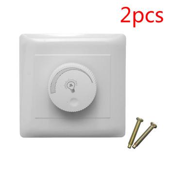 2 sztuk 220V LED Dimmer regulowany przełącznik jasność od ciemnego kontrolera do jasnych sterowników ściemniacze do żarówka z możliwością przyciemniania lampy tanie i dobre opinie NoEnName_Null other LED Dimmer Switch 100W POA00800 None