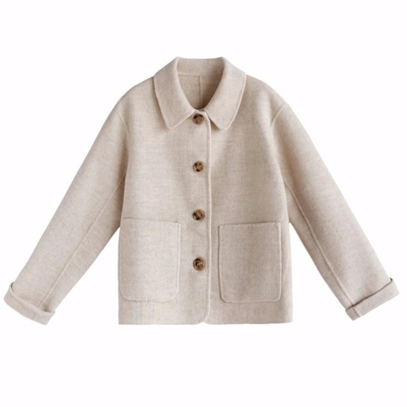 Короткое шерстяное пальто для женщин, новое шерстяное пальто для осени, корейское студенческое Короткое шерстяное пальто для женщин, 2019