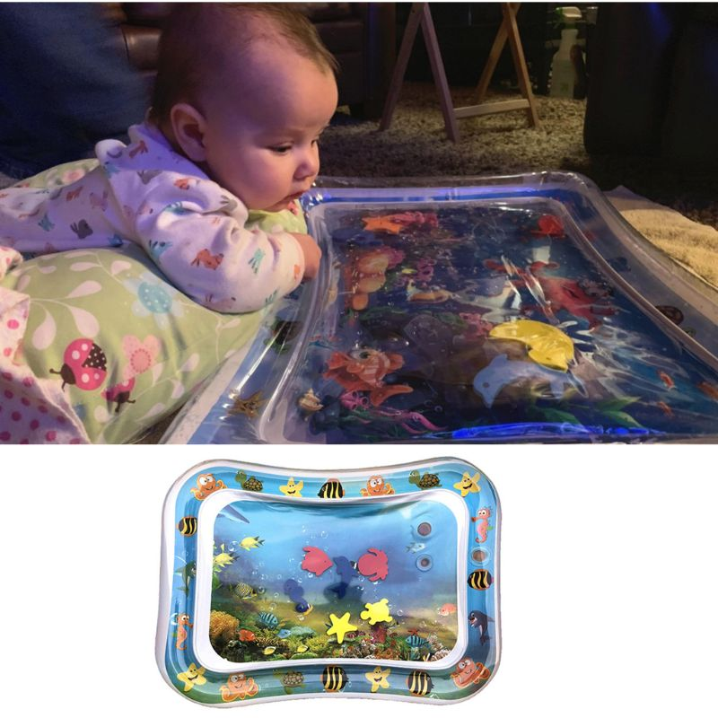 New Baby Toys Inflatable Tummy Time Water Play Mat Activity Center For Infants Toddlers Boys Girls Newborn Gift