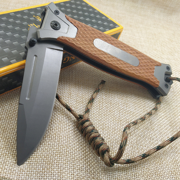 8.2'' Tactical Damascus steel Folding knife Pocket knife Camping survival Tactical knives colorful steel + solid wood handle EDC 3