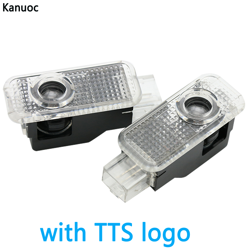 Car LED Door Light With TTS Logo Ghost Shadow Welcome Lamp Auto Decoration For Audi A8 A7 A5 A6 A3 A4 A1 R8 TT