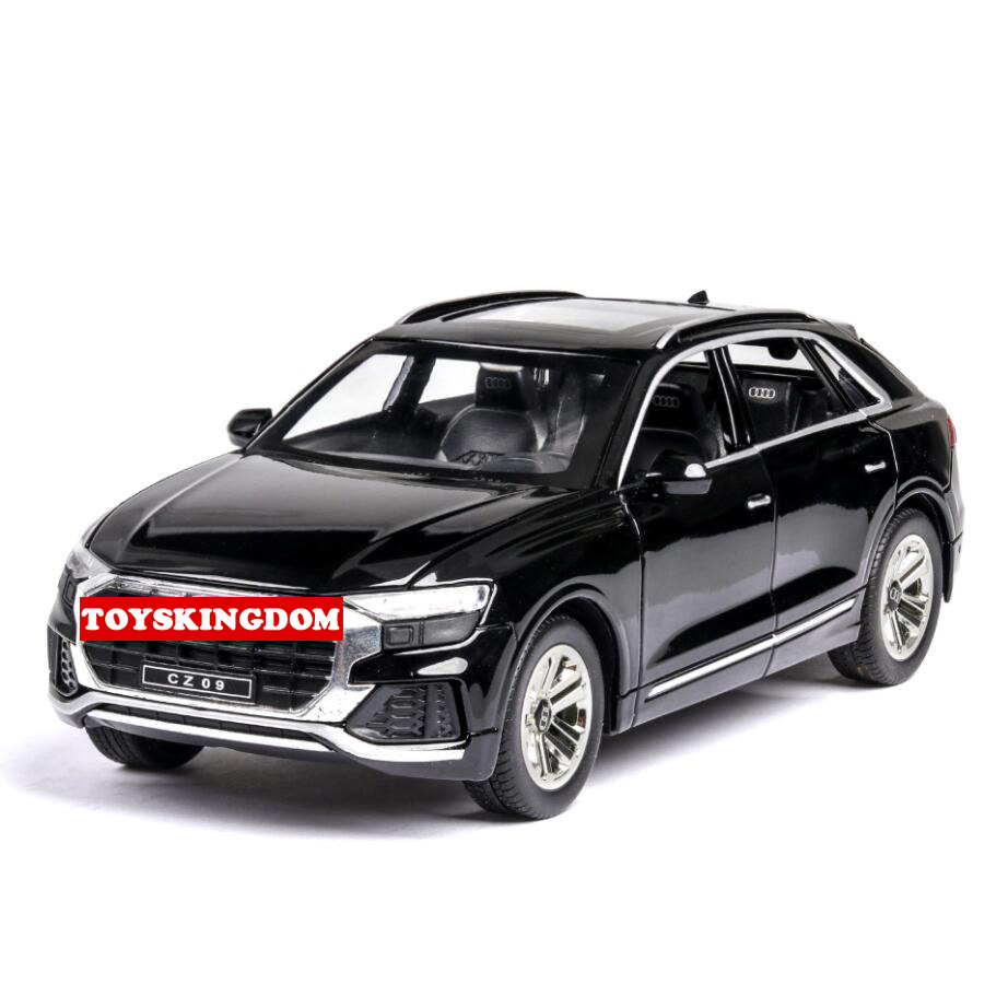 Hot 1:24 scale wheels SUV metal model with light and sound audi q8 diecast car pull back vehicle alloy toys collection for gifts image