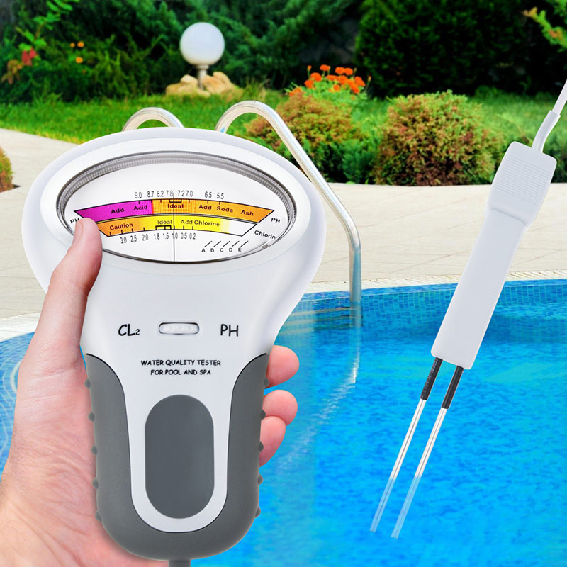 2 In 1 Chlorine Tester Water Quality PH & Chlorine PC-101 Level Portable Digital PH Meter Pool Spa Analytical Instruments 40%Off