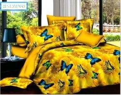 BEST.WENSD żółty zestaw narzut na łóżko zestawy pościeli z kołdrą zestaw pościeli dekbedovertrek poszewka na poduszkę motyl tekstylia domowe podwójne Zestawy pościeli    -