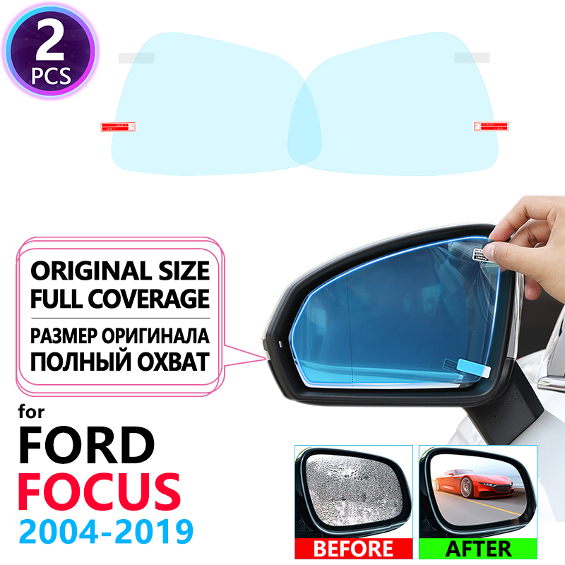 Full Cover Anti Fog Film Rearview Mirror For Ford Focus 2 3 4 2004~2019 Accessories MK2 MK3 MK4 2008 2012 2014 2016 2018 2019 ST
