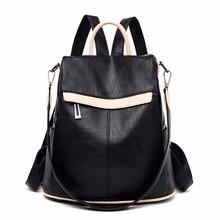 2019 kobiet skórzany plecak s o dużej pojemności podróży torba na ramię torby szkolne dla dziewcząt Sac Dos kobiet plecak z miękkiej skóry nowy