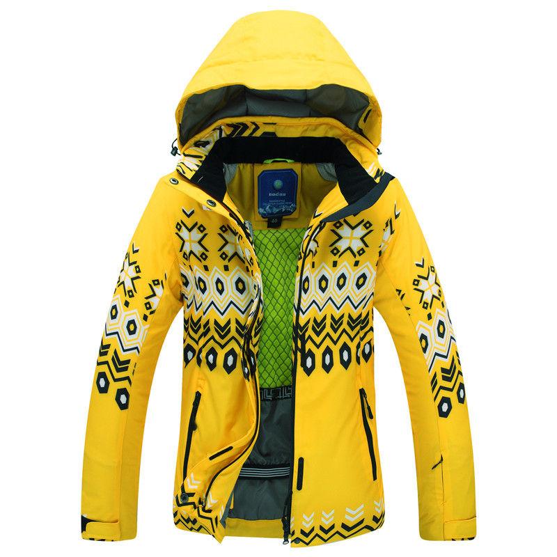 Winter Ski Jackets Female  NEW High Quality Windproof Waterproof Warm Colorful Flower Puzzle Ms. Ski Jacket Women