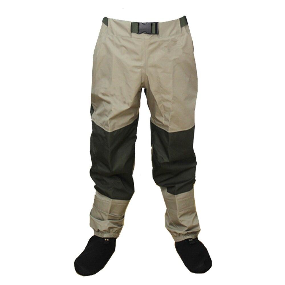 3 couches respirant imperméable à l'eau mouche pêche taille Waders Stockingfoot haut pantalon Wader Durable canard chasse Wading pantalon