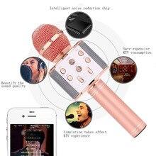 Bluetooth Karaoke Microphone Speaker Singing-Recorder Professiona Handheld Wireless