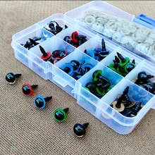 100 Uds 8mm 10mm 12mm ojos de seguridad de animales de colores mezclados para juguetes oso de peluche para muñecas artesanales Accessories caja de accesorios