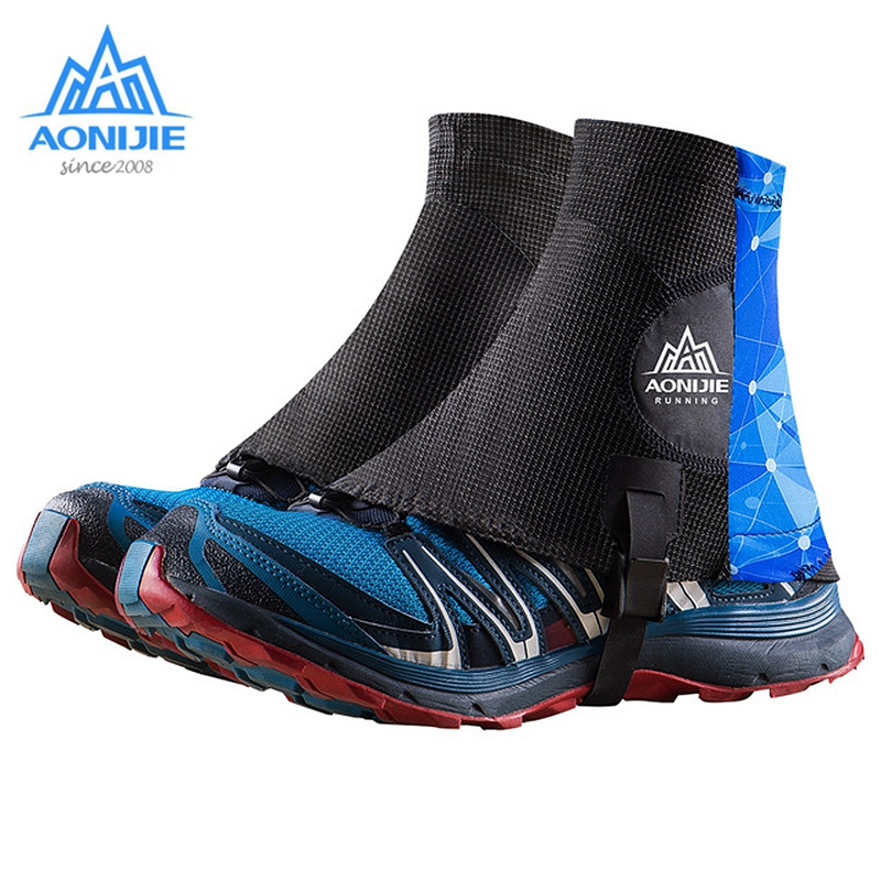 Aonijie Trail Running Sandproof Gaiters High Protective Shoe Covers Outdoor Unisex Reflective For Marathon Camping Hiking  E941|  - title=