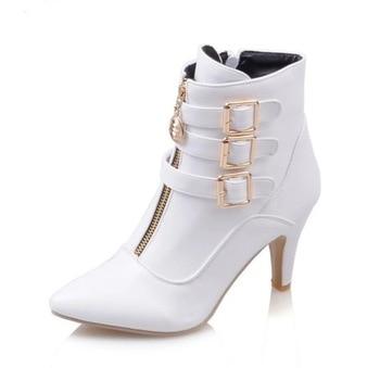 цена Woman Boots Belt Buckle Woman Boots Short Boots Sharp Rome Boots High With Women's Shoes онлайн в 2017 году