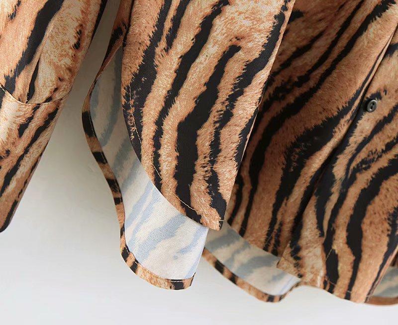 tiger print women blouse 4
