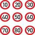 Автомобильная наклейка Decalr, ограничение скорости 10, 20, 30, 40, 50, 60, 70, 80, 90 км/ч для различных украшений автомобилей, Высококачественная мода, 15 с...
