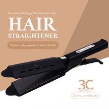 Hair Straightener Four-gear temperature adjustment Ceramic Tourmaline Ionic Flat Iron Curling iron Panel Hair Curler